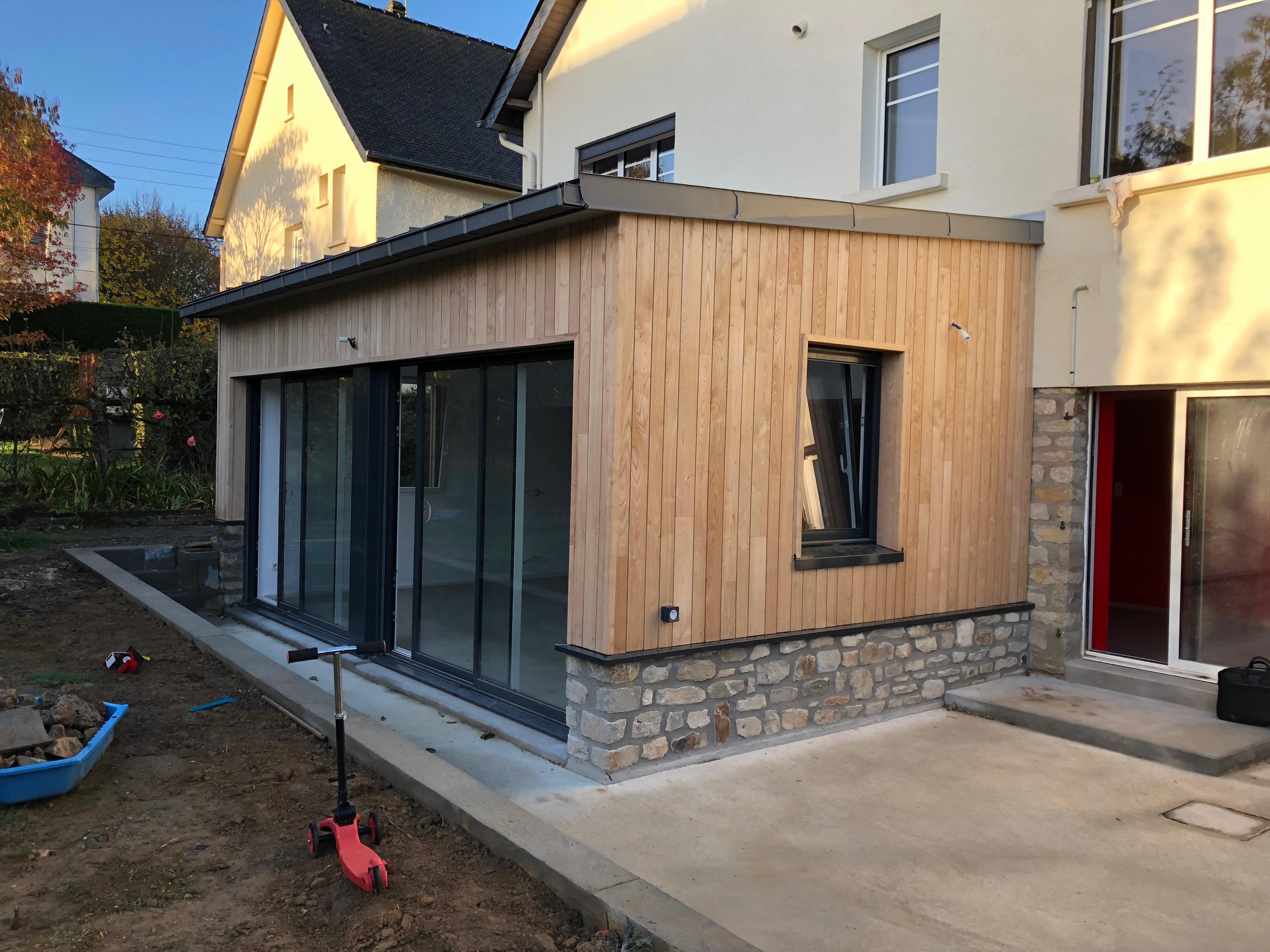 Devis Extension Maison  Coudekerque-Branche → Agrandissement Bois, Acier, Parpaing